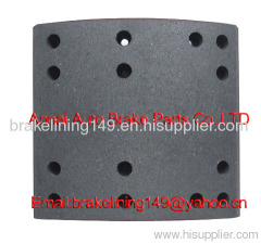 brake lining FMSI:4707 ANC CAM,heavy vehicle brake parts,friction lining,flat head rivet,drum liner