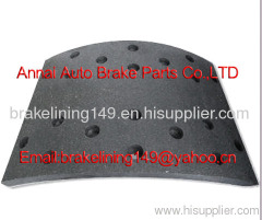 brake lining TEREX 3307 R-1,mercedes brake parts,metal rivet,asbestos free brake lining,automobile brake parts