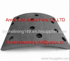 brake lining TEREX 3305 R-1,heavy duty truck brake part,drum brake liner,semi-metal brake lining,truck drum liner