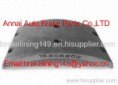 brake lining TEREX 3305 F,low price brake lining,asbestos free brake lining,heavy duty truck brake part