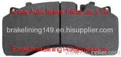 Brake pad WVA:29119,29141,29142,29126,MERCDES BENZ, RENAULT, DAF