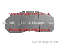 Brake pad WVA:29131&29156,ERF, LUCAS(MERITOR), MAN, NEOPLAN