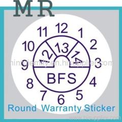 round tamper evident labels