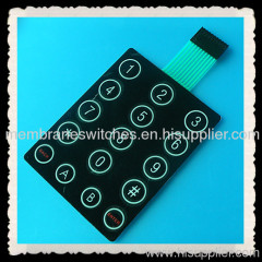 high gloss overlay membrane keypad with metal dome inside