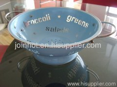 steel powder coating Fruit basket with pattern holes