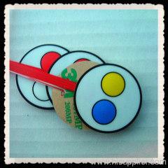 2 keys tactile membrane keypad
