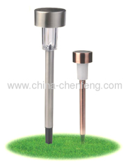 mini stainless steel solar stake lightings