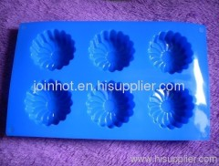 6 trays sunflower Silicone Bakeware muffin case