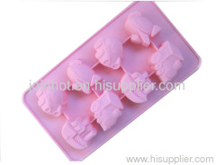 cartoon Muffin Sweet Candy Jelly Ice Silicone Mould Mold Baking Pan Tray Mak