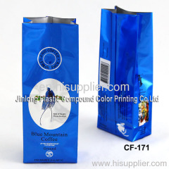 coffee bag blue color