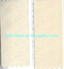 Cotton label fabric, designed cotton label fabric, Poly/cotton label ribbon