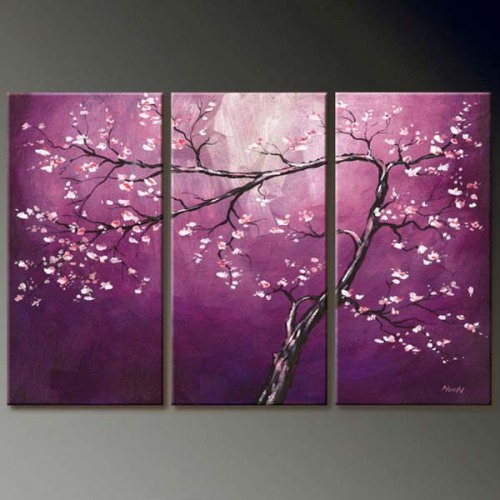 Chinese Oil Canvas Flower Paintings