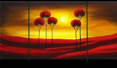2012 Popular Handmade Landscape Group Painting For Sale