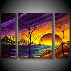 Hand Painted Scenery Painting On Canvas For Sale
