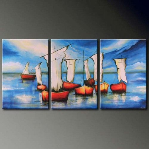 2012 Handmade Seascape Oil Painting On Canvas For Sale