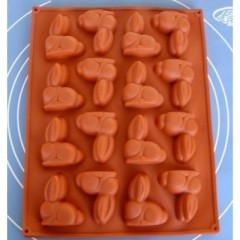 16 Rabbit silicone cake mold,cake pan
