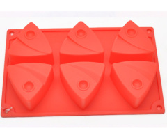 6 tray design silicone cake mold
