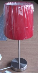Metal incandescent bedside table Lamp with fabric Shade