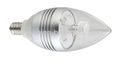 High Lumen E14 base C37 Led Candle light 1x3W Cree led
