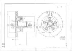 Brake disc 5542 for Pontiac