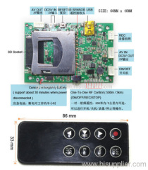 DC5V Micro SD Card DVR Module 40mm*60mm Spy DVR for hunting camera
