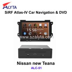 Nissan new Teana navigation dvd SiRF A4