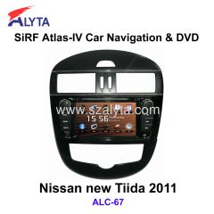 Nissan Tiida 2011 navigation dvd SiRF A4