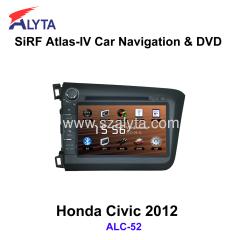Honda Civic 2012 navigation dvd SiRF A4