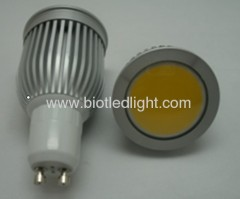5W COB High Power led spot GU10 base