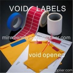 Tamper Labels Void Labels