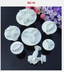 8pcs cake decoration snow Plunger Cutter Mold Sugarcraft Fondant Cake Decorating DIY Tool