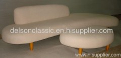 noguchi freeform sofa and ottoman