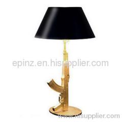 Table Gun 18K Table lamp/gun table lamp