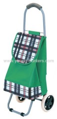 green 600D POLYESTER shopping trolley