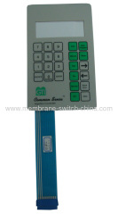 flat membrane switch keypad with LED