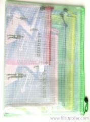 PVC Grid bag zipper