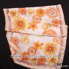 Crepe Satin Plain Oilpainting Heavy Silk Scarves