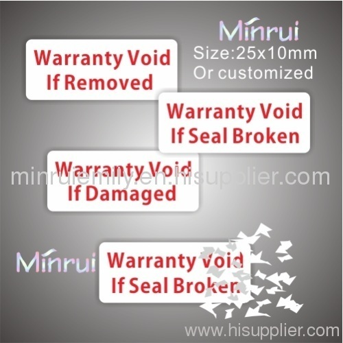 Warranty Void If Removed Labels From China Manufacturer