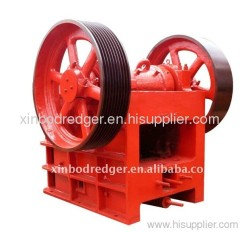 Simple operated jaw crusher