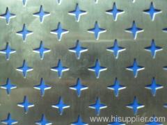 interior perforated metal sheet