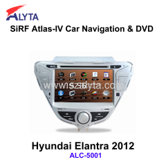 Hyundai Elantra 2012 navigation dvd SiRF A4