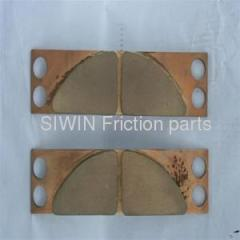 Friction pads for wind power equipment