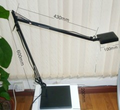 Eye protection metal finish SMD5050 LED desk lamp