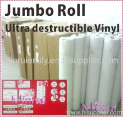 Manufacturer of ultra destructible vinyl,destructible label materials China