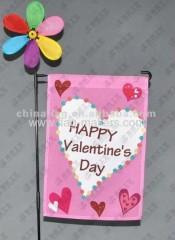 Valentine's garden flag