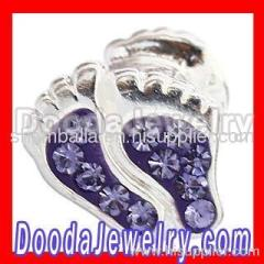Swarovski Crystal european Foot Charm Beads Wholesale