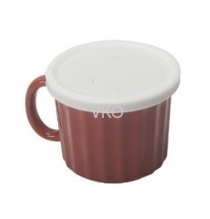 Ceramic Soup And Beverage Mug With Lid
