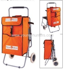 fold up polyester shopping trolley bag