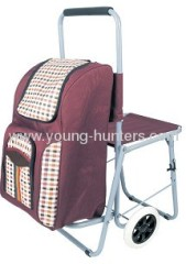non-caustic foldable trolley bag