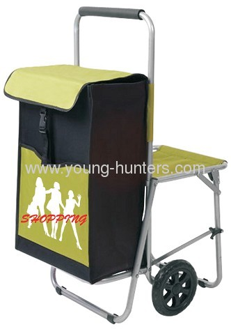 Climb Stair Folding Shopping Trolley With Chair